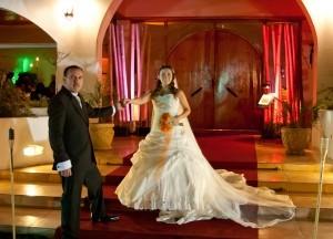vendo vestido de novia importado color ivory con velo y falso