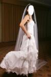 elegante vestido de novia se seda italiana