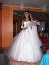 vendo vestido de novia cn falso $80.000 mas velo de 4 mts